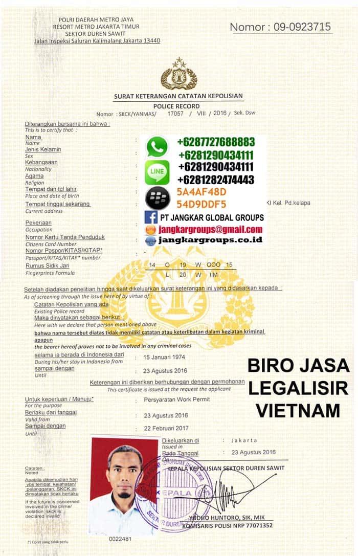 legalisir skck vietnam