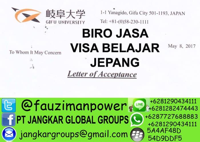 persyaratan visa belajar ke jepang