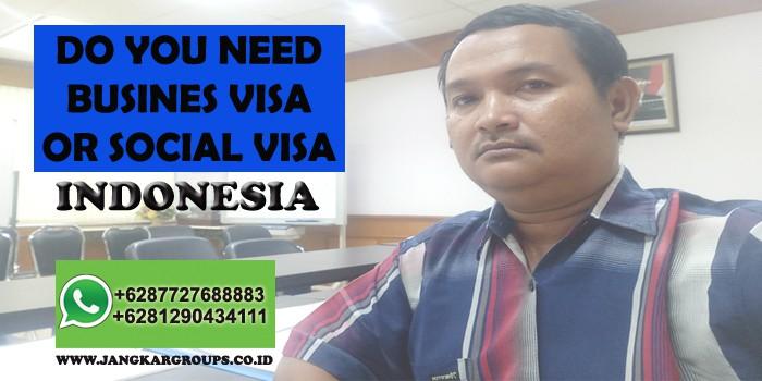 social visa indonesia
