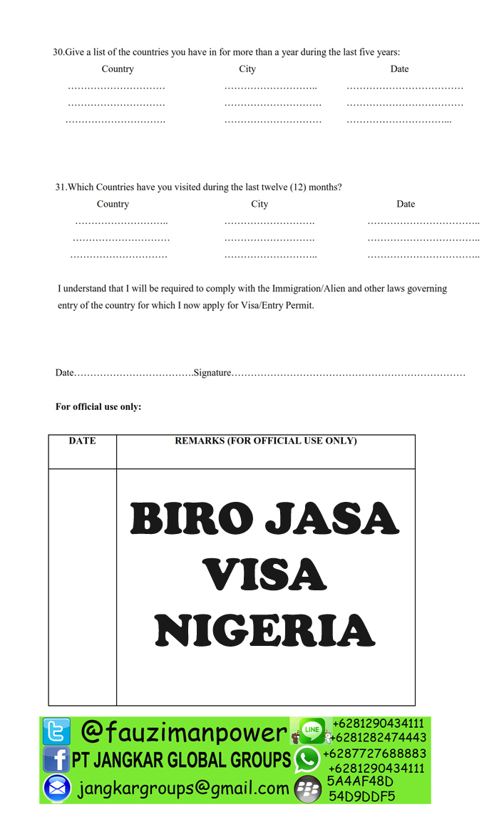 Nigeria Visa Application Form _003