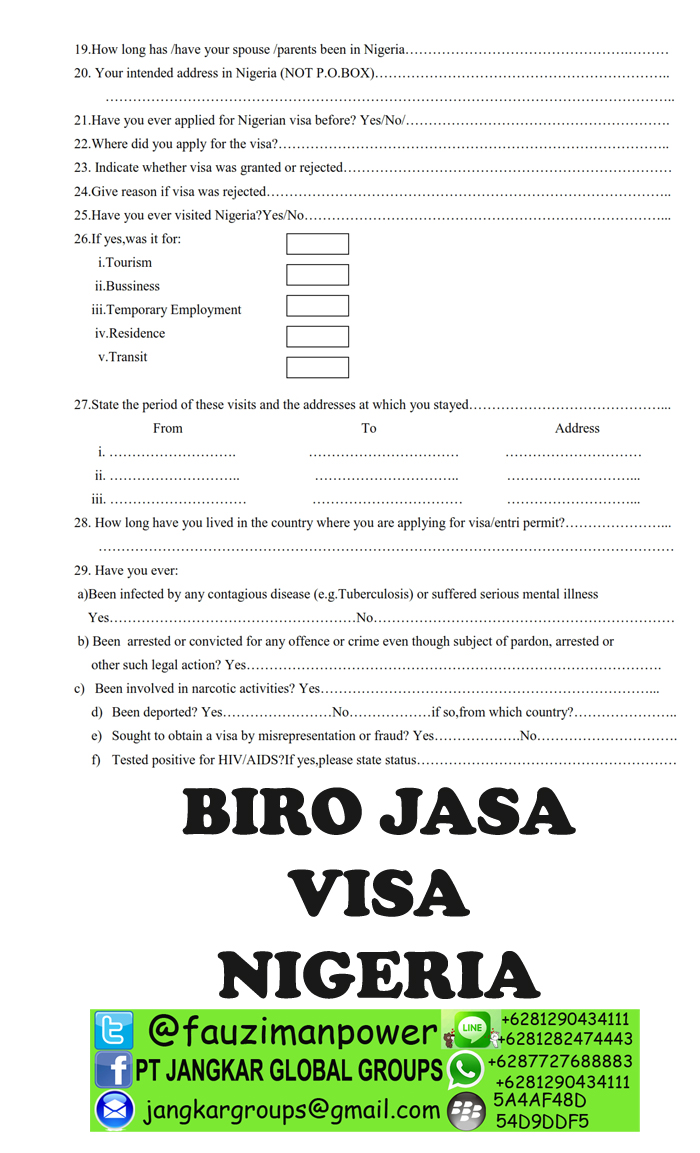 Nigeria Visa Application Form_002