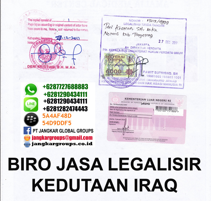 biro jasa legalisir kedutaan iraq