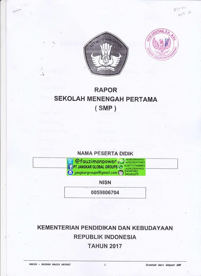 buku raport smp