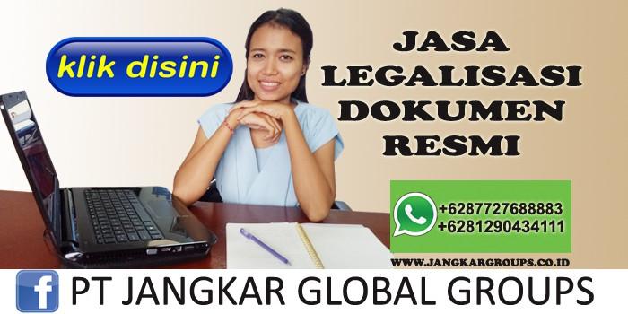 jasa legalisasi dokumen resmi