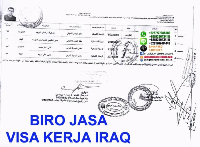 jasa pengurusan visa kerja iraq