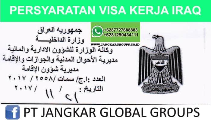 persyaratan visa kerja iraq