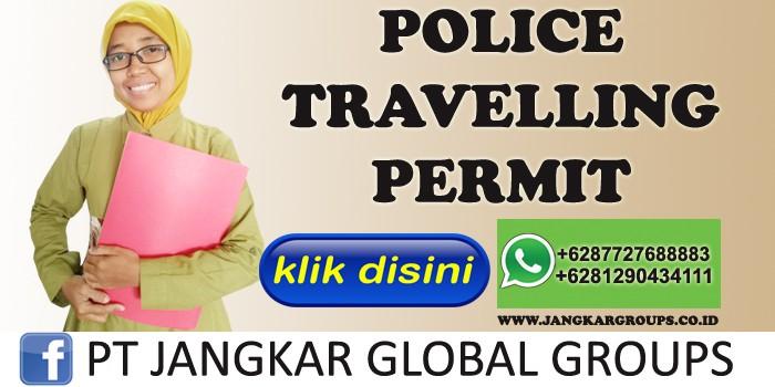 skj police travelling permit