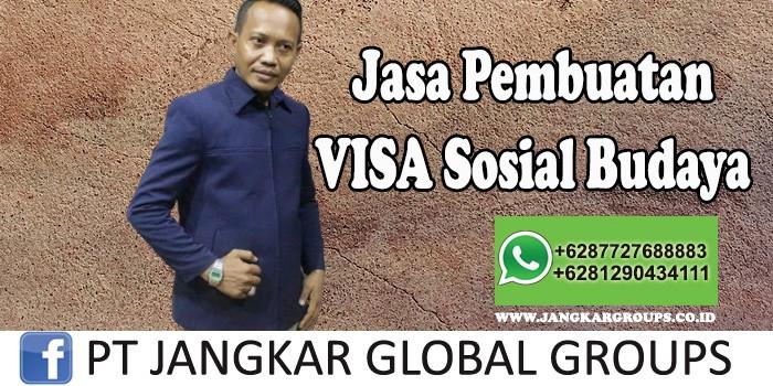 Jasa Pembuatan Visa sosial budaya