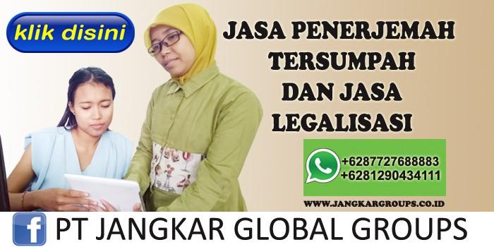 jasa penerjemah tersumpah dan jasa legalisasi