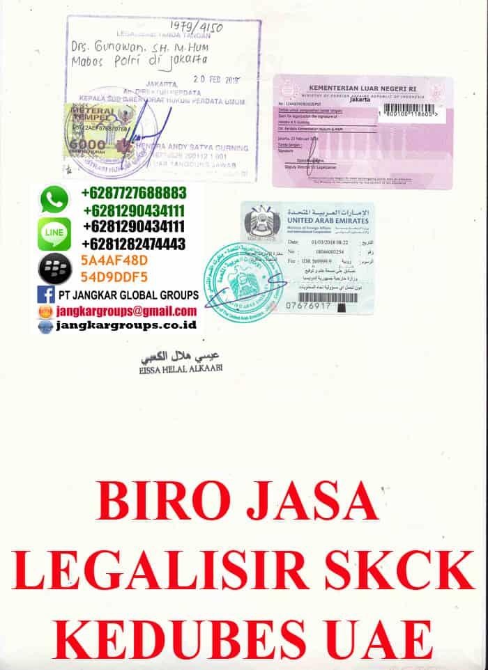 persyaratan legalisir skck di kedutaan uae