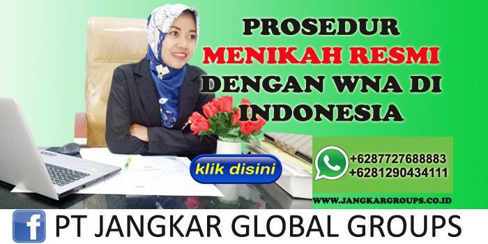 prosedur menikah resmi dengan wna di indonesia