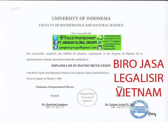 Legalisir translate ijasah ui