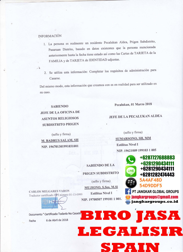 Legalisir translate skbm spanyol3