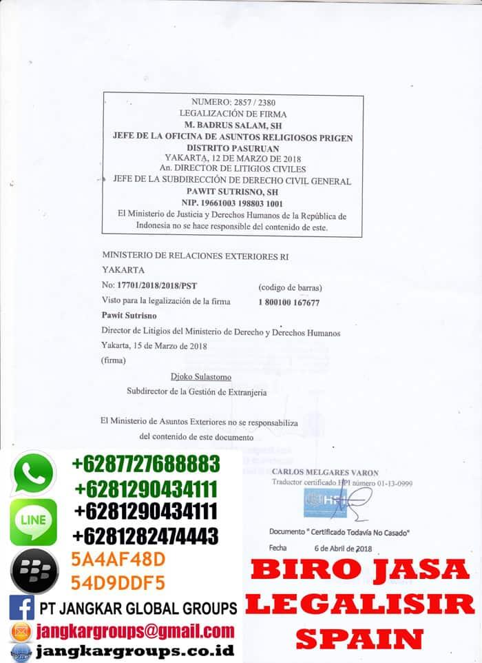Legalisir translate skbm spanyol5