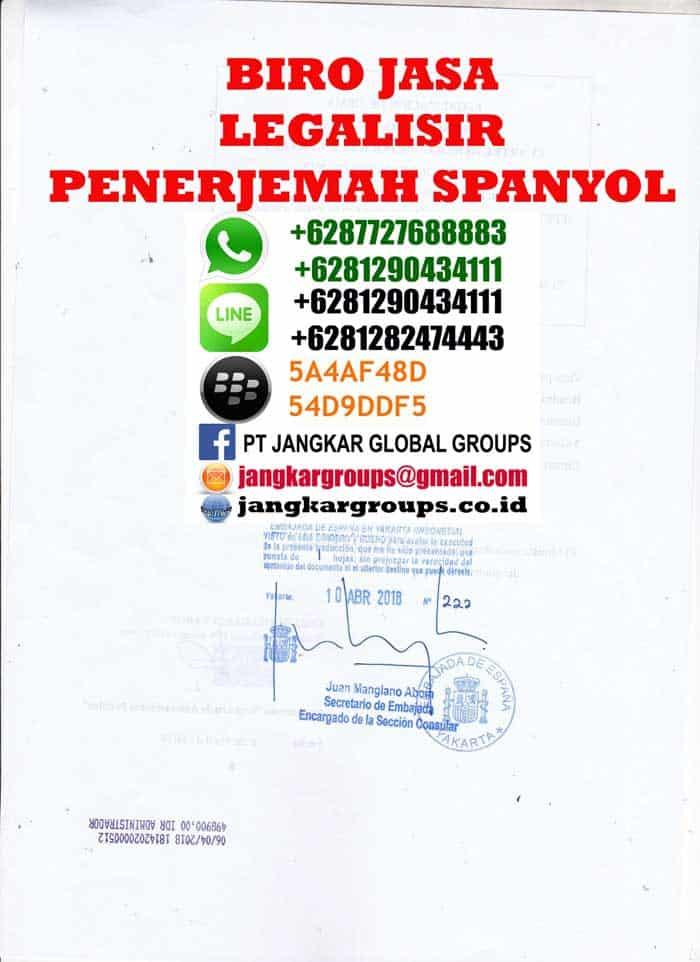 Legalisir translate skck spain4