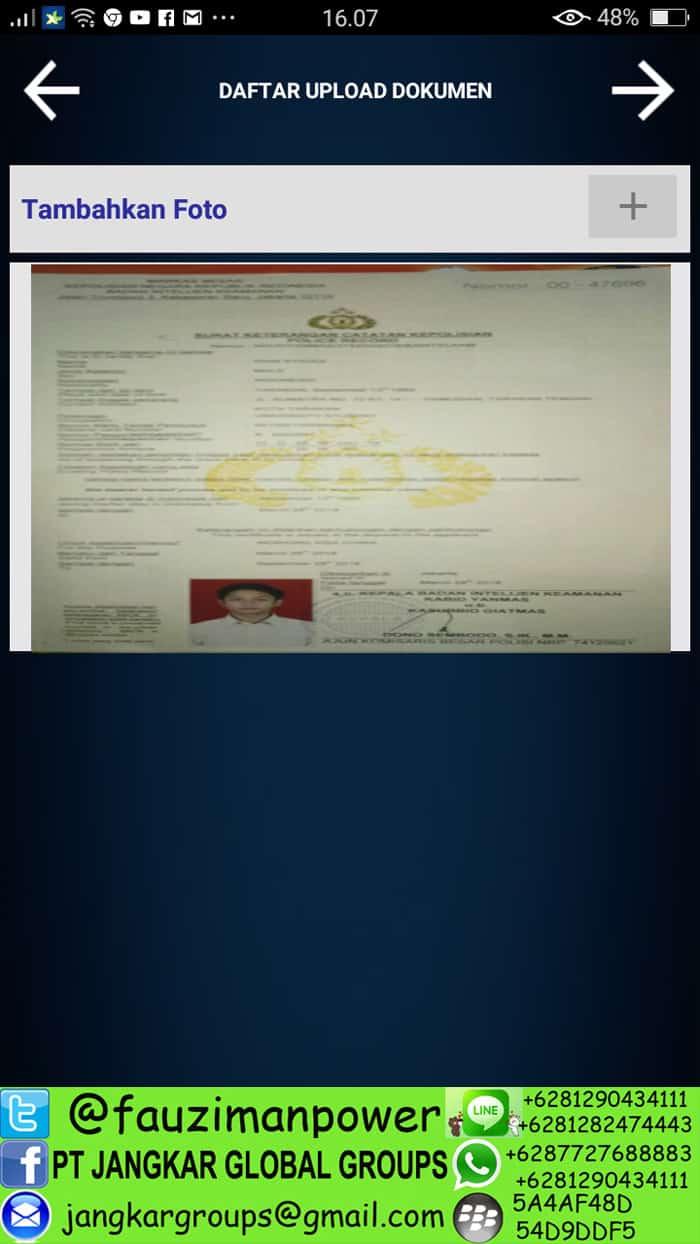 daftar upload dokumen skck