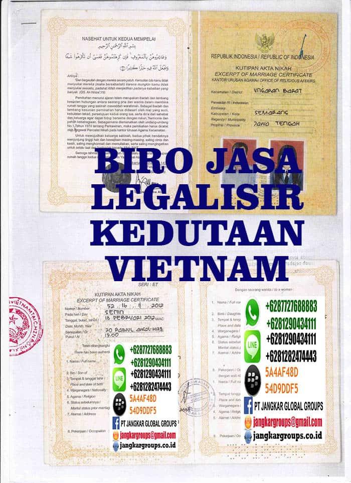 jasa legalisir buku nikah di kedutaan vietnam
