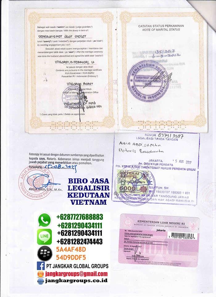 jasa legalisir buku nikah di kedutaan vietnam2