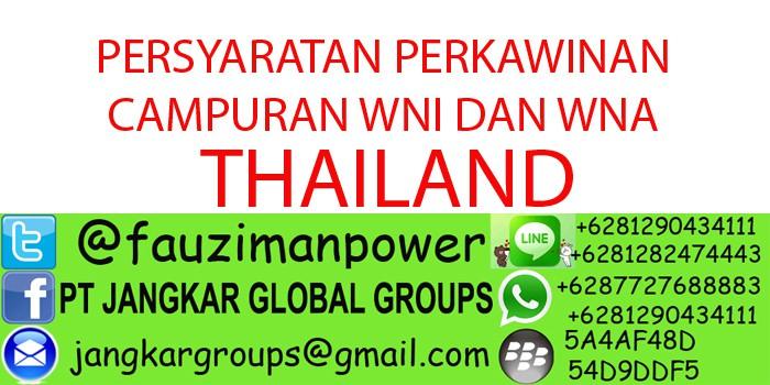 persyaratan menikah dengan wna thailand