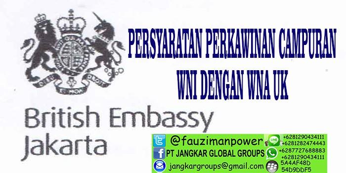 persyaratan menikah dengan wna uk di indonesia
