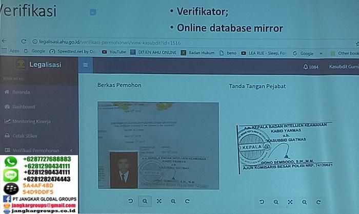 verifikasi speciment tanda tangan online