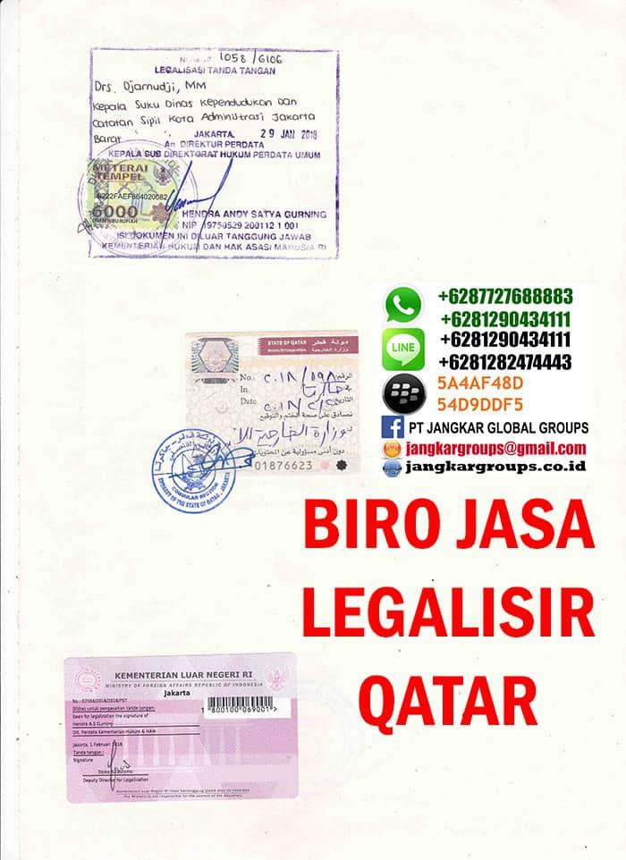 Jasa legalisir akte kelahiran di embassy qatar