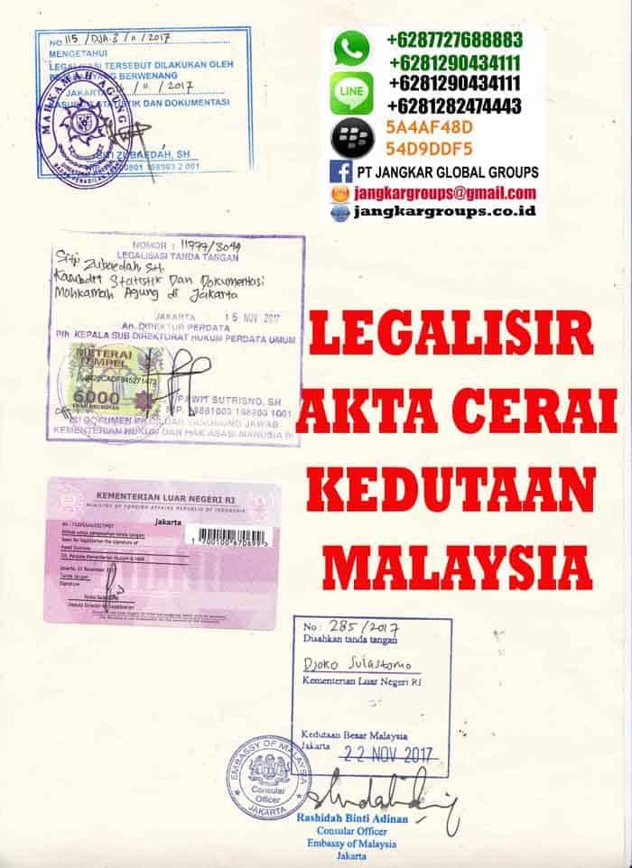 LEGALISIR AKTA CERAI DAN SKBM DI KEDUTAAN MALAYSIA