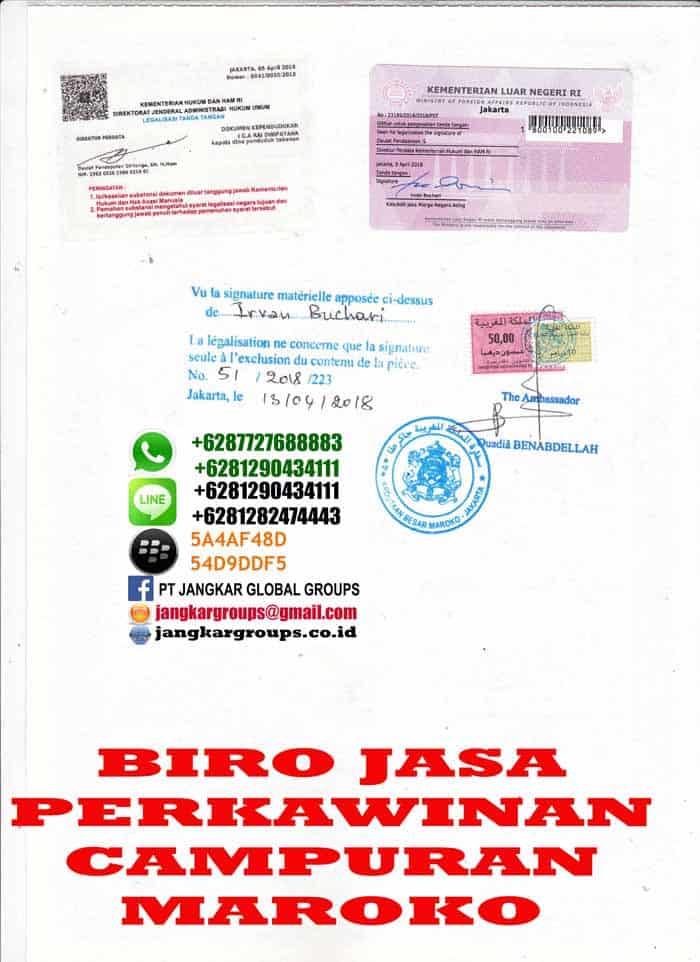 Legalisir akte kelahiran di embassy maroko