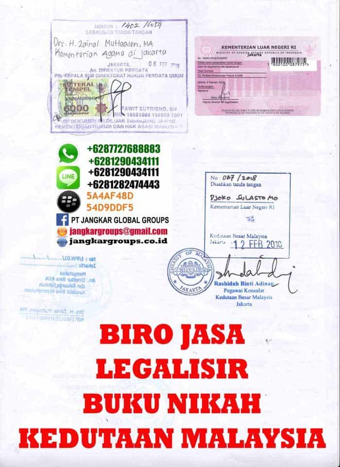 Legalisir copy buku nikah di kedutaan malaysia