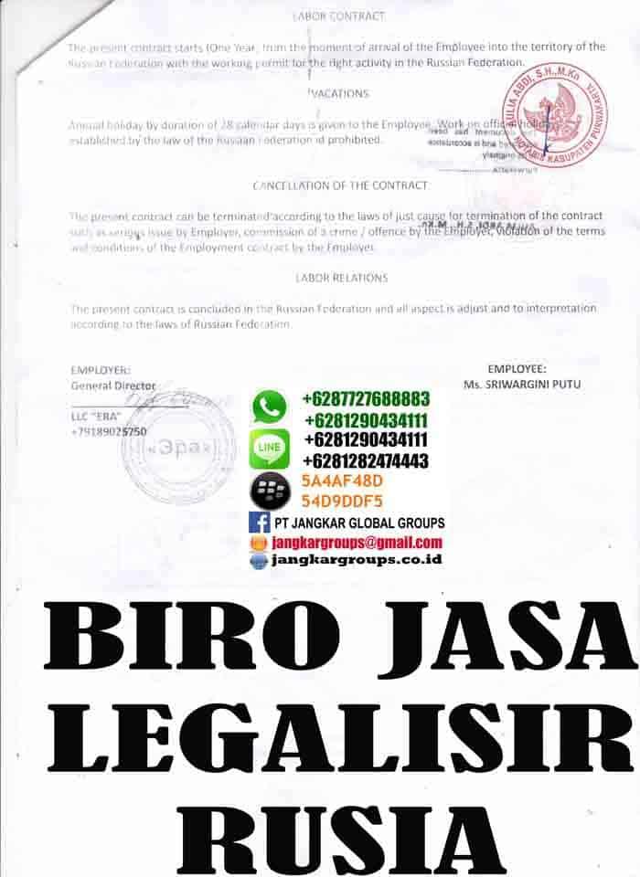 Legalisir kontrak kerja rusia2