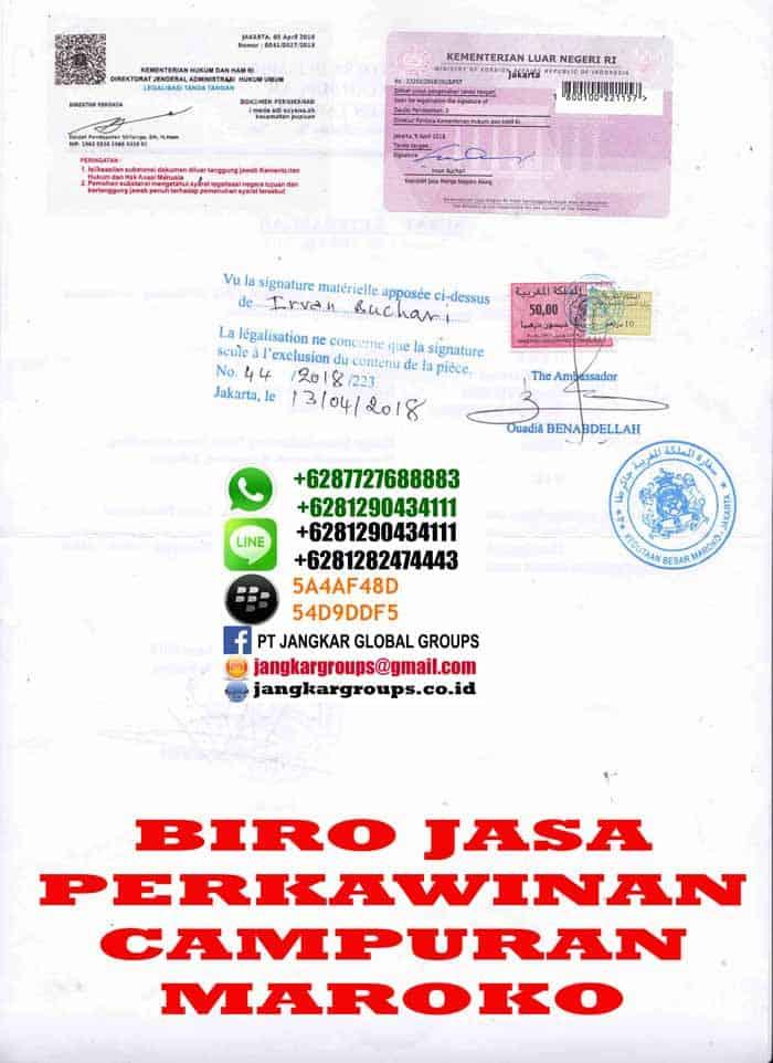 Legalisir skbm di embassy maroko