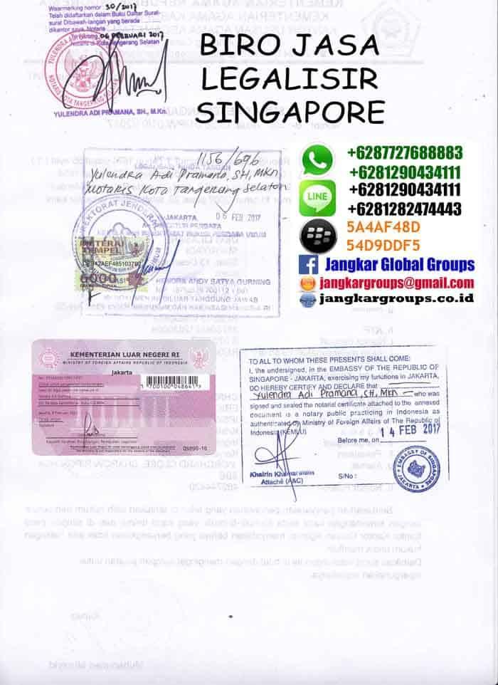 Legalisir skbm di embassy singapore