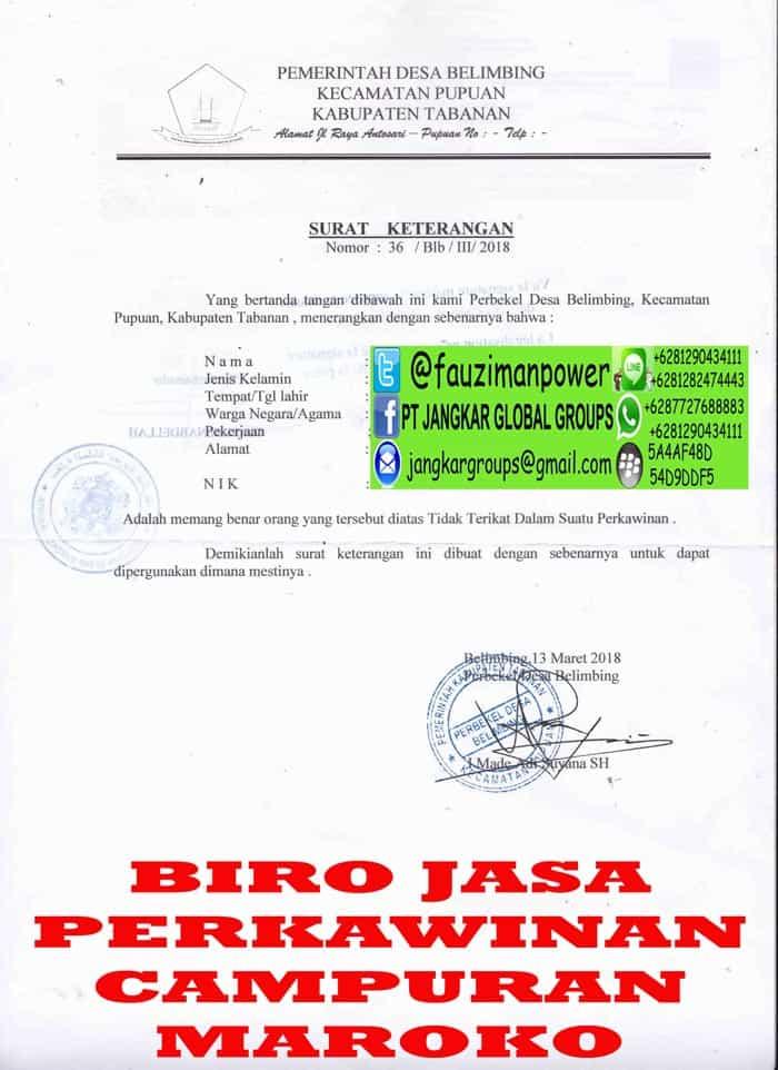Legalisir skbm di kedutaan maroko