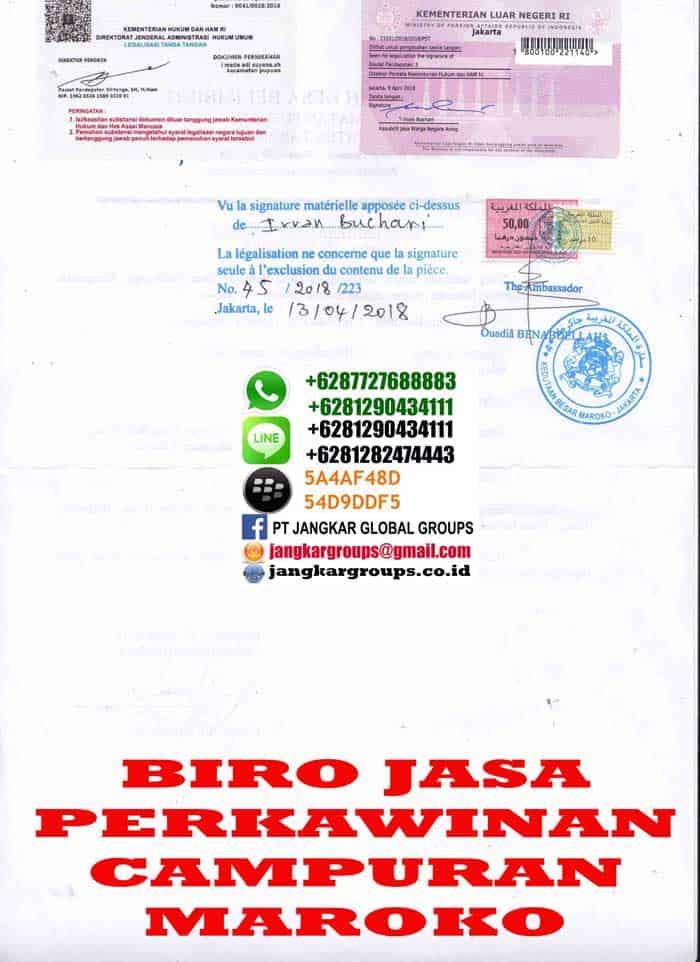 Legalisir surat domisli di embassy maroko