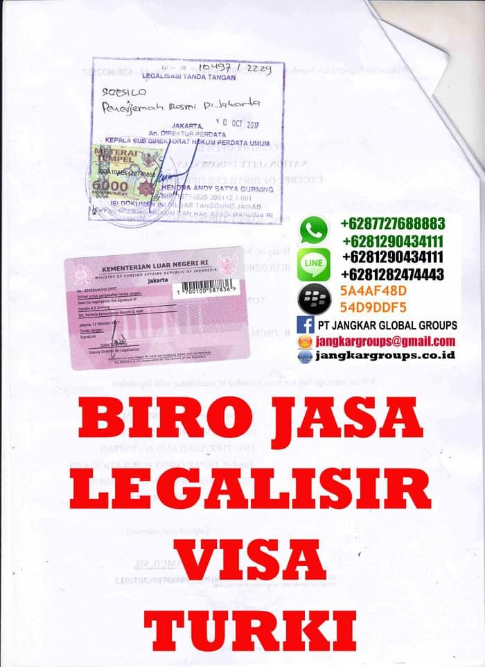 Legalisir translate akte kelahiran di embassy turki