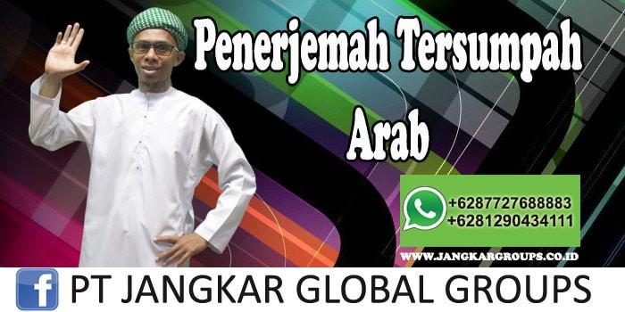 Penerjemah Tersumpah Arab