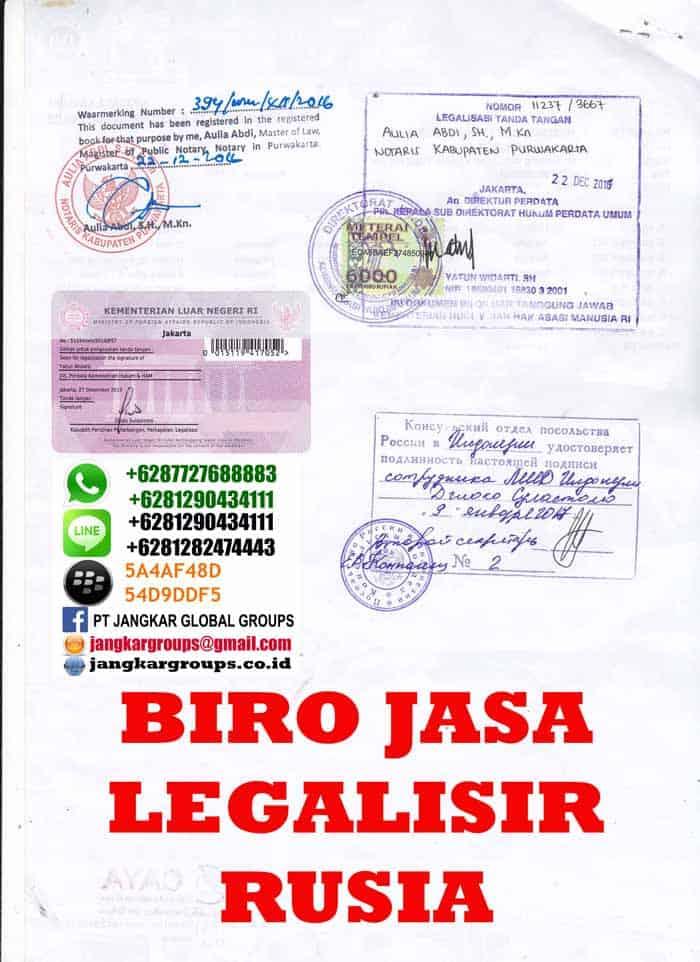 biro jasa legalisir kedutaan rusia