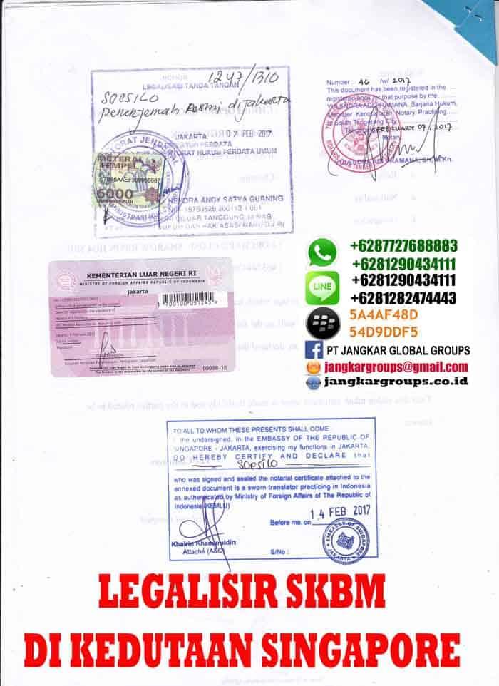 biro jasa legalisir kedutaan singapore
