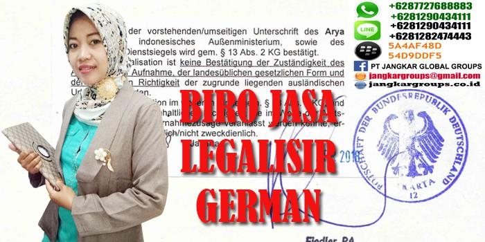 legalisir akte kelahiran di kedutaan german