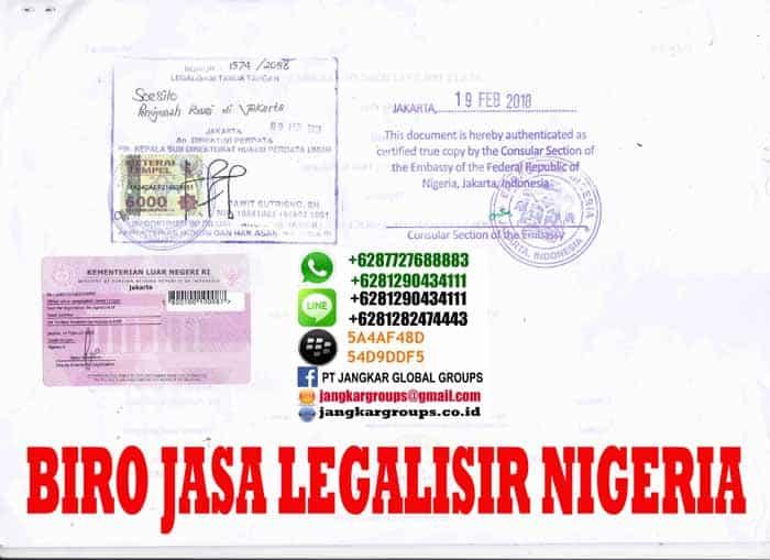 legalisir ijazah di embassy nigeria