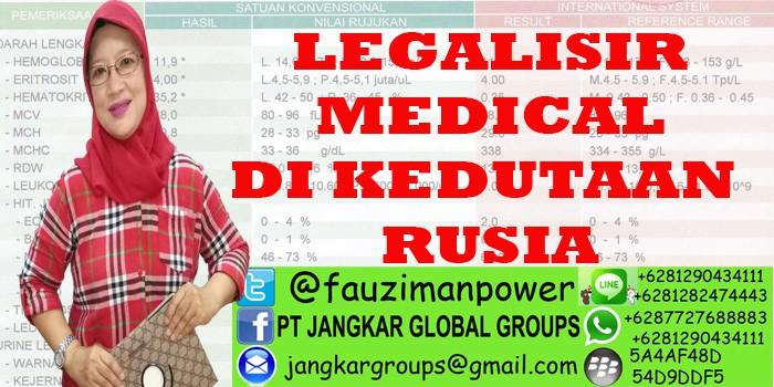 legalisir medical di kedutaan rusia