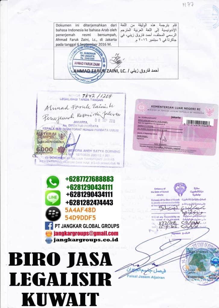 legalisir skck di embassy kuwait