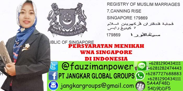 persyaratan menikah wna singapore di indonesia