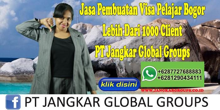 Jasa Pembuatan Visa Pelajar Bogor Lebih Dari 1000 Client PT Jangkar Global Groups