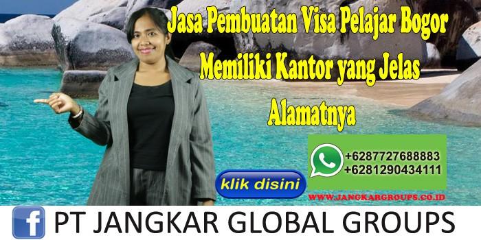 Jasa Pembuatan Visa Pelajar Bogor Memiliki Kantor yang Jelas Alamatnya