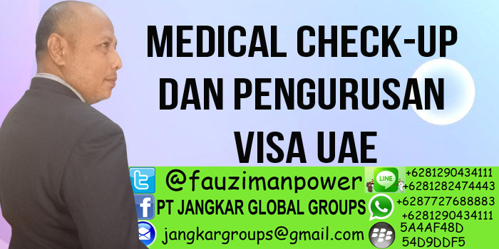 medical check-up dan pengurusan visa uae