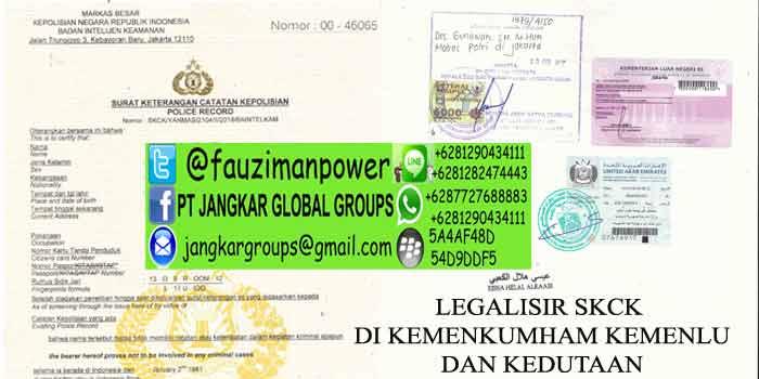 LEGALISIR SKCK DI KEMENKUMHAM KEMENLU