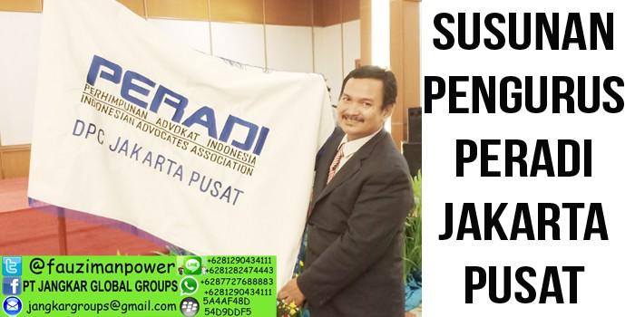 Susunan pengurus DPC Peradi Jakarta Pusat
