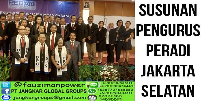 Susunan pengurus DPC Peradi Jakarta Selatan