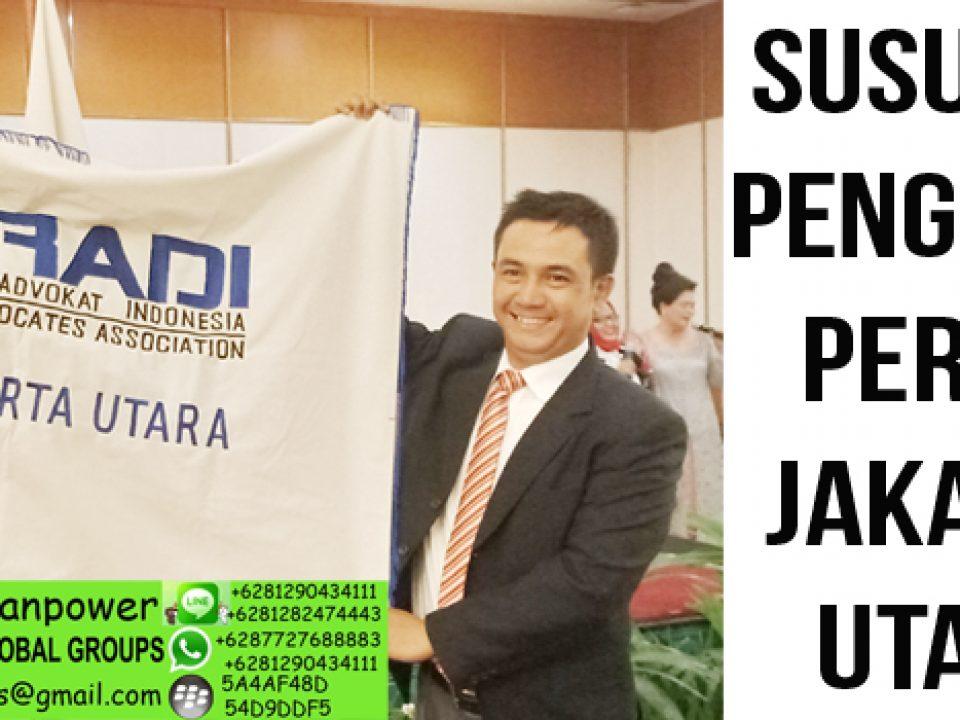 Susunan pengurus DPC Peradi Jakarta Utara
